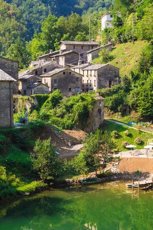 isola: View of Isola Santa village in Garfagnana, Tuscany - Italy
