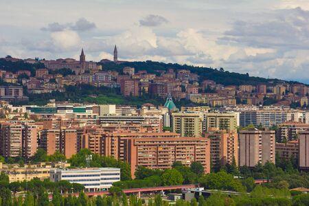 umbria: Skyscrapers of Perugia, Umbria - Italy Stock Photo