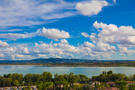 Panoramic view of Trasimeno lake