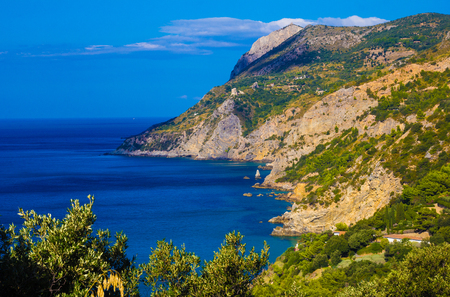 The coast of Monte Argentario, Tuscany Zdjęcie Seryjne - 46099174
