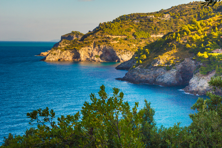 stone background: Cala piccola in the Argentario mountain - Tuscany