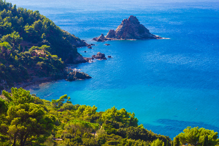 Panoramic view of monte Argentario, Tuscany - Italy