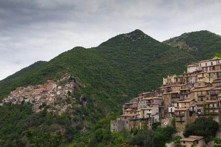lazio: Ascrea and Paganico villages on lazio mountain
