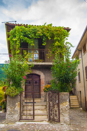 lazio: Colle di Tora alley in Lazio