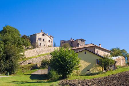 apennines: Piega is a medieval village of Emilia-Romagna, Italy Stock Photo
