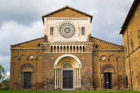 etrurian: Photo of San Pietro church in the etruscan city of Tuscania, Lazio - Italy.