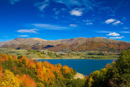 apennines: Beautiful mountain lake in the italian apennines Stock Photo