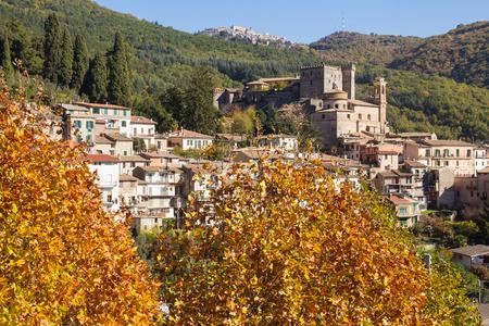 lazio: Beautiful medieval village of Arsoli, Lazio, Italy.