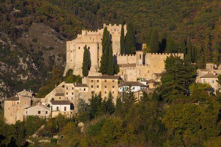 lazio: The famous castle of Rocca Sinibalda in Lazio, Italy.