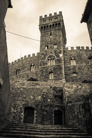 tuscia: Torre Alfina - medieval village and castle in Viterbo province, Italy.