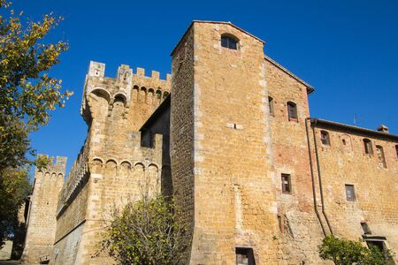 val d'orcia: Photo of Spedaletto Castle built in the 12th century, located in the Val dOrcia, Tuscany - Italy. Editorial