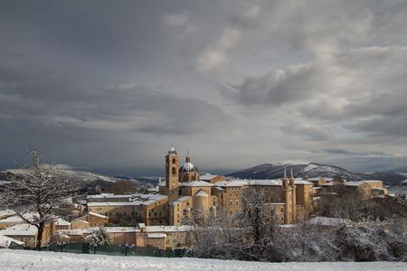 marche: Panoramic view of Urbino city, Marche - Italy.