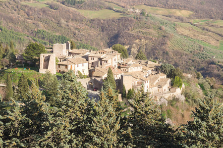 spello: Panoramic view of Collepino village in Umbria