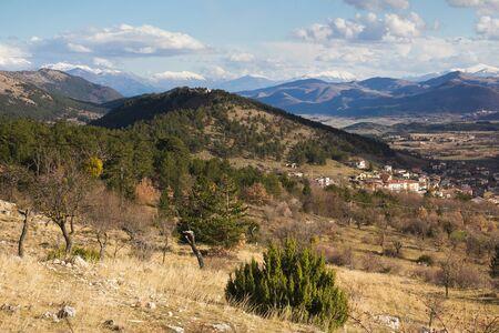abruzzo: Abruzzo village in the apennines Stock Photo