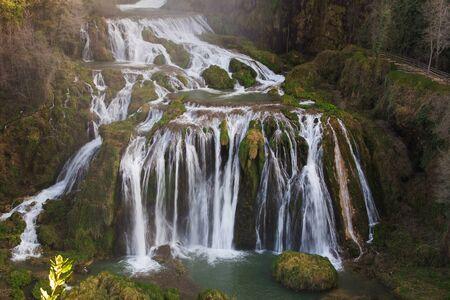 terni: Enchanted Marmores fall Cascata delle Marmore in Umbria - Italy