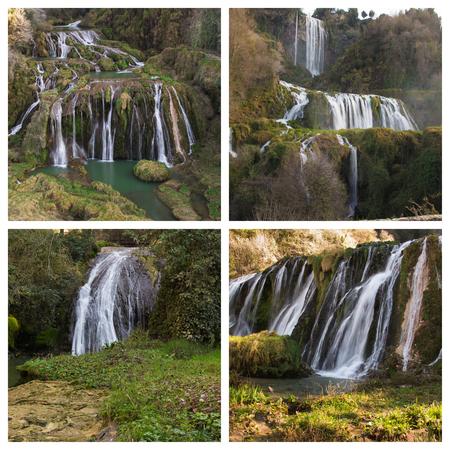 terni: Beautiful view of enchanted waterfall in Italy