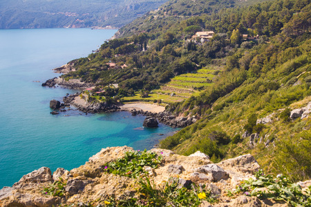 Beautiful view of Monte Argentario in Tuscany
