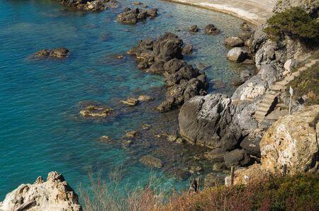 tyrrhenian: Little bay in the tyrrhenian sea