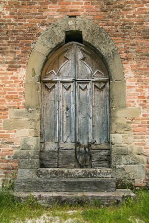 Photo of old wooden Church Door
