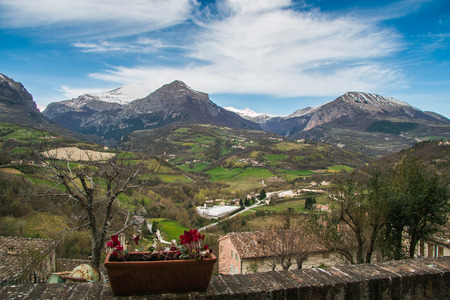 touristic: Panoramic view from the balcony