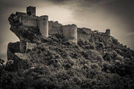 Dark castle in abruzzo