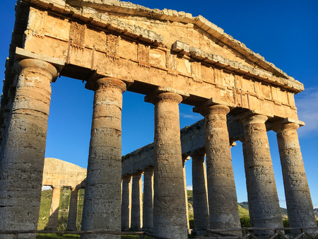segesta: Greek Temple of Segesta, Sicily, Italy