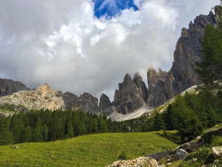 Summer vacation on the italian dolomites Stock Photo