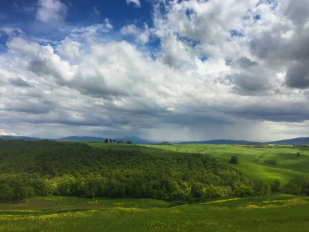 val dorcia: Summer storm in Val dOrcia, Tuscany
