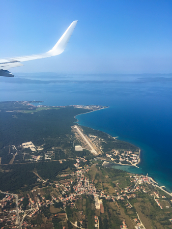 dalmatian: Flying on the dalmatian coast Stock Photo