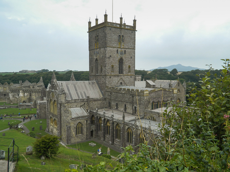 pembrokeshire: St Davids Cathedral in Pembrokeshire - Wales, United Kingdom