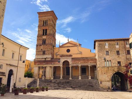 lazio: Saint Caesarius cathedral of Terracina in Lazio Stock Photo