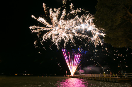 pyrotechnics: Fireworks on Trasimeno lake