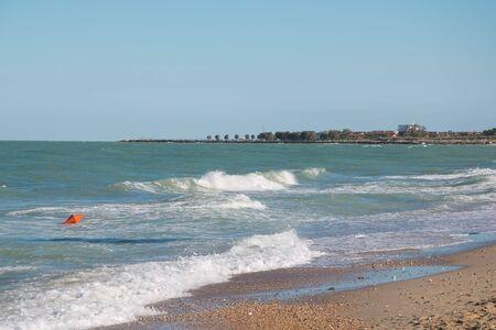 marche: Beach of San Benedetto del Tronto in the marche region, Italy