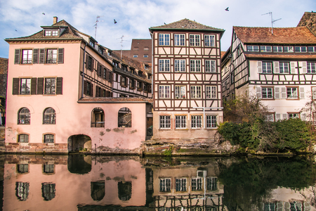 Timbered buildings in the medieval quarter of Strasbourg