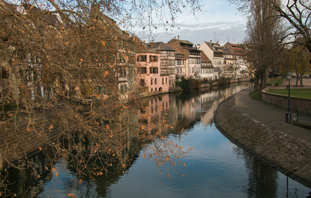 The Ill river in Petite France area of Strasbourg