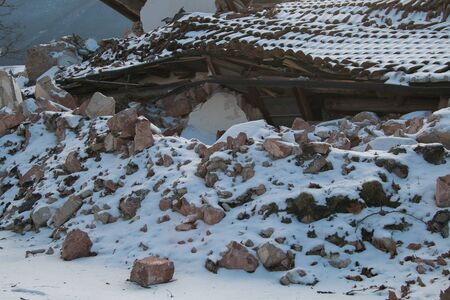 norcia: House destroyed by earthquake of Norcia