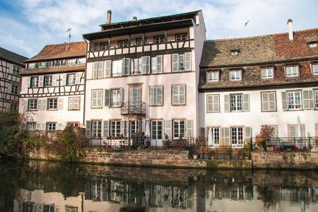 Panoramic view of historic strasbourg city in the canal