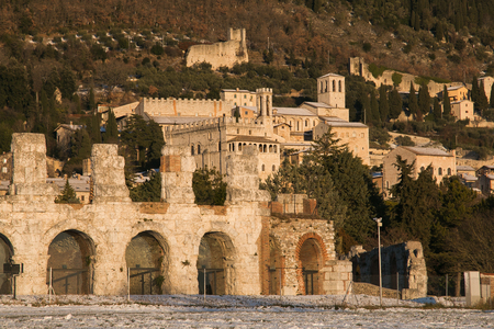 Gubbio is a fantastic medieval city in the umbria region, Italy Stock Photo