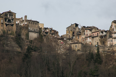 quake: Terrible view of Arquata del Tronto village destroyed by earthquake