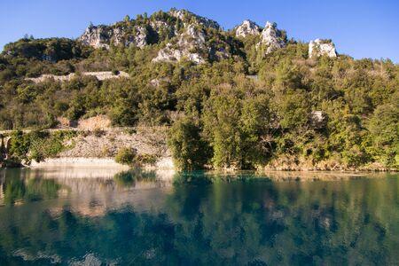 terni day: Idyllic landscape with river Nera in Umbria, Italy Stock Photo