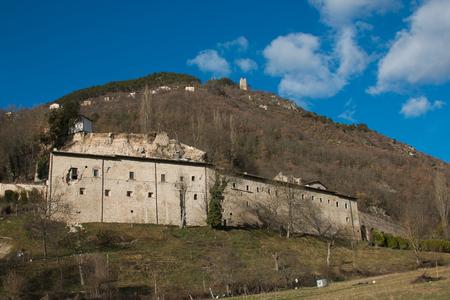 SantEutizio abbey destroyed by earthquake