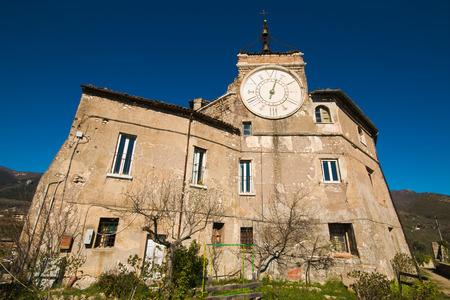 La Rocca Abbaziale (detta anche Rocca dei Borgia) è un'abbazia, progettata come un castello, a Subiaco, Lazio, Italia Archivio Fotografico - 77143491