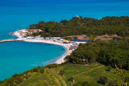 Summer vacation on the beautiful sea of Conero park, Marche, Italy