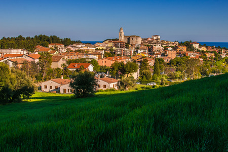 Beautiful view of Sirolo city, Marche, Italy