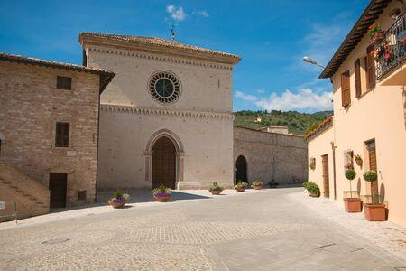 spello: Vallegloria monastery in the historic center of Spello Stock Photo