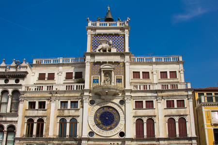 Detail of Saint Marks Clock in Venice (Italy)