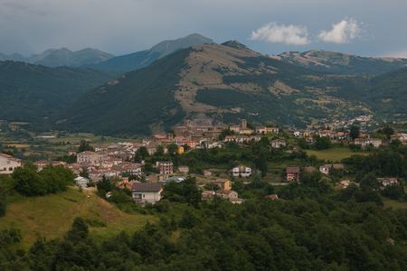 Beautiful view of Montereale village in Abruzzo