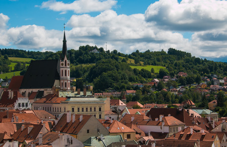 aerial, alley, ancient, belfry, bell, bohemia, buildings, card, castle, cathedral, cesky, church, city, clouds, czech, famous, fortress, green, heritage, hill, historic, krumlov, landmark, landscape, leaf, monuments, nature, old, place, postcard, religion