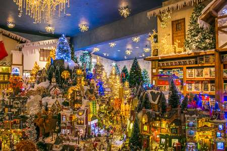 miniature of christmas village at the reign of santa claus shop stock photo picture and royalty free image image 86614147