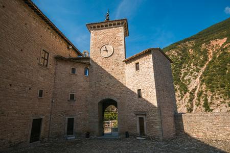 windows: The Brancaleoni castle in the center of Piobbico